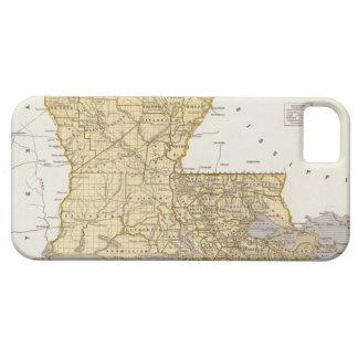 Mapa del vintage de Luisiana 1845 iPhone 5 Case-Mate Protectores