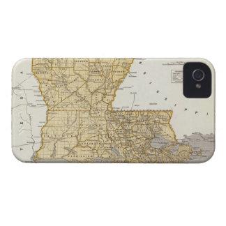 Mapa del vintage de Luisiana 1845 Case-Mate iPhone 4 Carcasa