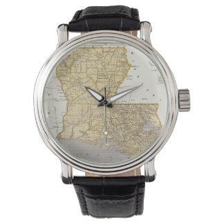Mapa del vintage de Luisiana (1845) Reloj