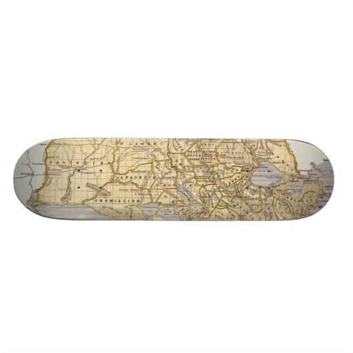 Mapa del vintage de Luisiana (1845) Tabla De Skate
