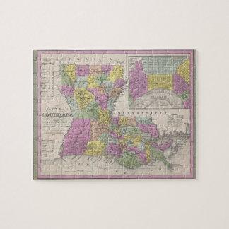 Mapa del vintage de Luisiana (1853) Puzzle
