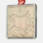 Mapa del vintage de Luxemburgo (1686) Ornamento Para Reyes Magos
