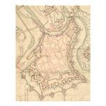 Mapa del vintage de Luxemburgo (1686) Plantillas De Membrete
