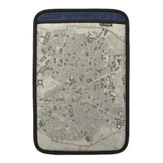 Mapa del vintage de Madrid España (1831) Fundas Para Macbook Air