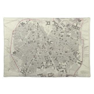 Mapa del vintage de Madrid España (1831) Mantel Individual