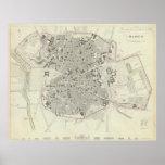 Mapa del vintage de Madrid España (1831) Impresiones