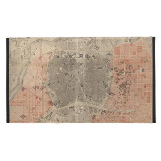Mapa del vintage de Madrid España (1861)