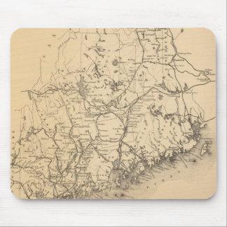Mapa del vintage de Maine (1894) Tapetes De Raton