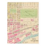 Mapa del vintage de Manchester NH (1892) (2) Postal