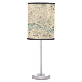 Mapa del vintage de Manchester NH (1892) Lámpara De Mesa