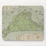 Mapa del vintage de Marthas Vineyard (1913) Alfombrillas De Raton