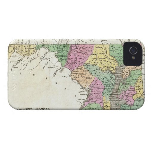 Mapa del vintage de Maryland (1827) iPhone 4 Protector