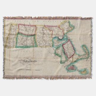 Mapa del vintage de Massachusetts (1827) 2 Manta