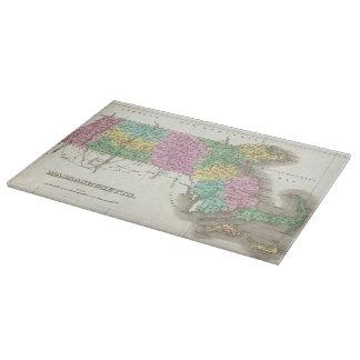 Mapa del vintage de Massachusetts (1827) Tabla De Cortar