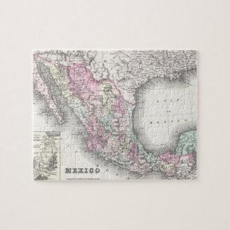 Mapa del vintage de México (1855) Puzzle
