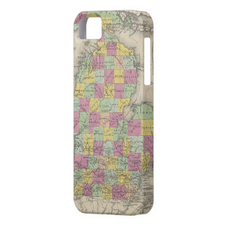 Mapa del vintage de Michigan (1853) iPhone 5 Case-Mate Carcasas
