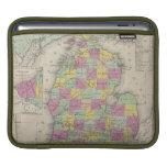 Mapa del vintage de Michigan (1853) Funda Para iPads