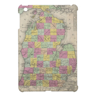 Mapa del vintage de Michigan (1853) iPad Mini Carcasa