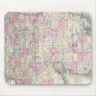 Mapa del vintage de Michigan (1855) Mousepads