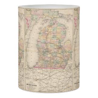 Mapa del vintage de Michigan (1873)