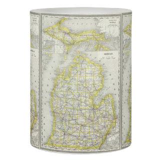 Mapa del vintage de Michigan (1889)