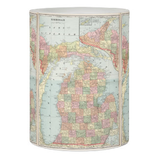 Mapa del vintage de Michigan (1901) 2