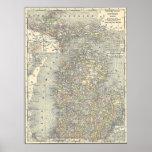 Mapa del vintage de Michigan (1901) Impresiones