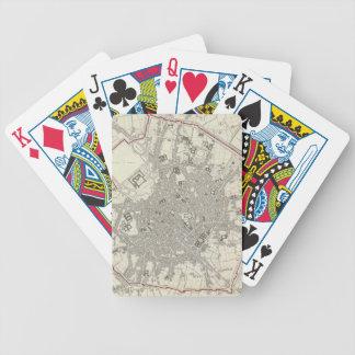 Mapa del vintage de Milano Italia (1832) Baraja Cartas De Poker