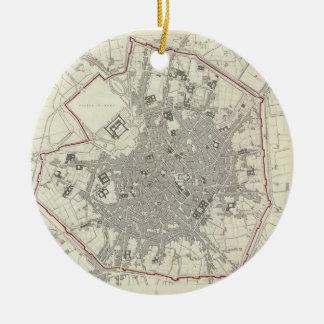 Mapa del vintage de Milano Italia (1832) Adorno De Navidad