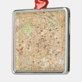 Mapa del vintage de Milano Italia (1914) Ornatos