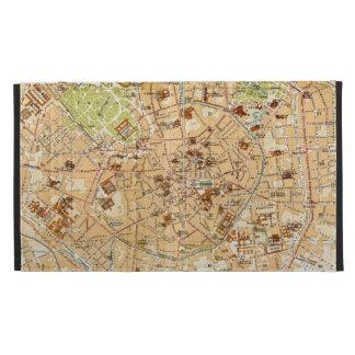 Mapa del vintage de Milano Italia (1914)