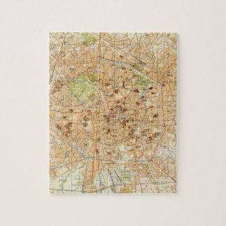Mapa del vintage de Milano Italia (1914) Puzzles