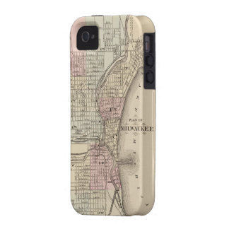 Mapa del vintage de Milwaukee (1880) Vibe iPhone 4 Carcasa