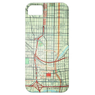 Mapa del vintage de MILWAUKEE iPhone 5 Case-Mate Funda