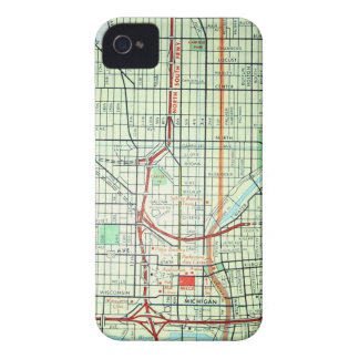 Mapa del vintage de MILWAUKEE Case-Mate iPhone 4 Carcasas