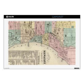 Mapa del vintage de Milwaukee Wisconsin (1878) 43,2cm Portátil Calcomanías