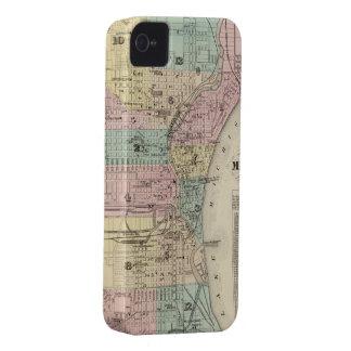 Mapa del vintage de Milwaukee Wisconsin (1878) iPhone 4 Protector
