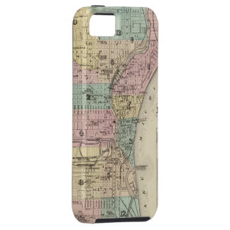 Mapa del vintage de Milwaukee Wisconsin (1878) iPhone 5 Carcasa
