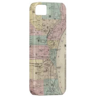 Mapa del vintage de Milwaukee Wisconsin (1878) iPhone 5 Fundas