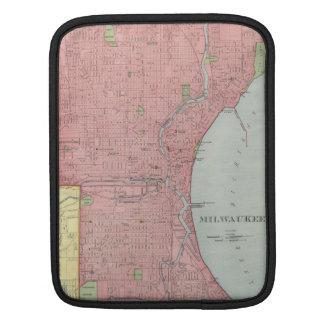 Mapa del vintage de Milwaukee Wisconsin (1903) Funda Para iPads