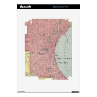 Mapa del vintage de Milwaukee Wisconsin (1903) Skins Para eliPad 2