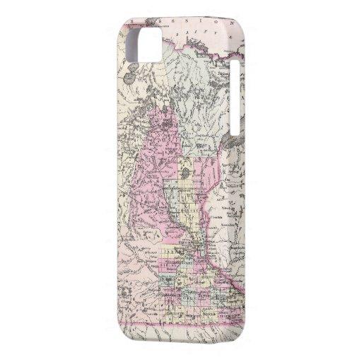 Mapa del vintage de Minnesota (1855) iPhone 5 Cobertura