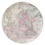 Mapa del vintage de Minnesota (1855) Plato De Cena