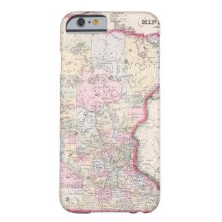 Mapa del vintage de Minnesota (1864) Funda De iPhone 6 Barely There