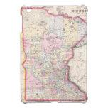 Mapa del vintage de Minnesota (1864) iPad Mini Carcasa