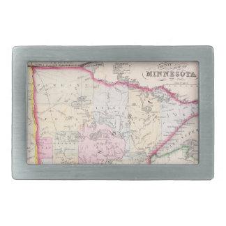 Mapa del vintage de Minnesota (1864) Hebilla De Cinturón