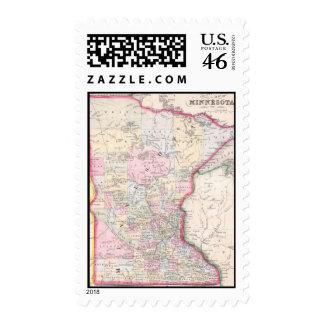 Mapa del vintage de Minnesota 1864