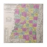 Mapa del vintage de Mississippi (1853) Tejas