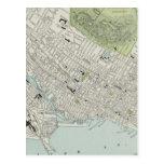 Mapa del vintage de Montreal (1901) Postal