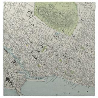 Mapa del vintage de Montreal (1901) Servilletas De Papel